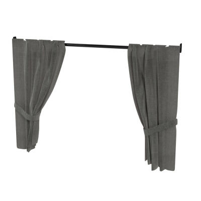 Maya Nook 36 Curtains & Curtain Pole - Charcoal Grey