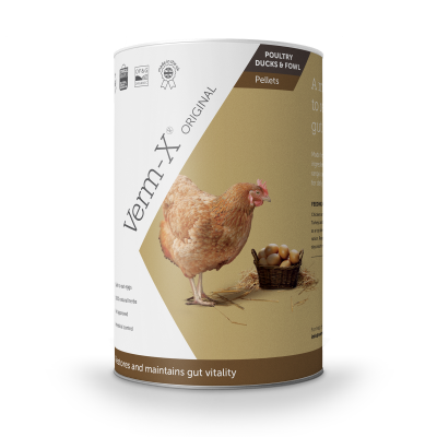 Pellets Herbal Verm-X 250g - Control intestinal para Aves