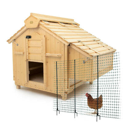 Lenham Chicken Coop with Omlet 21m Chicken Fencing