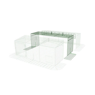 Extension for Zippi Rabbit Run with Roof and Skirt - Single Height 3 x 2 to 3 x 3