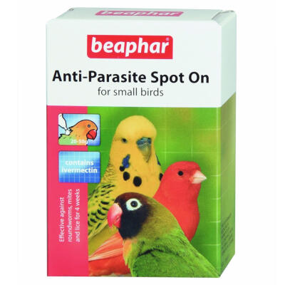 Beaphar Anti-Parasite Spot On for Small Birds - 2 Tubes