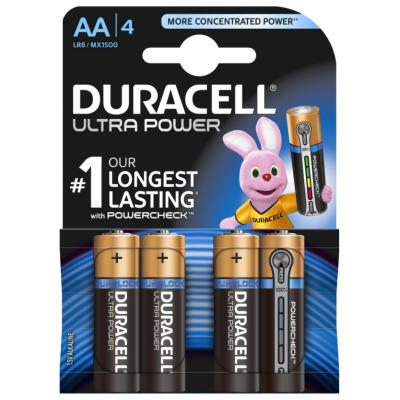 Duracell Plus Power AA LR6-batterier - 4-pack