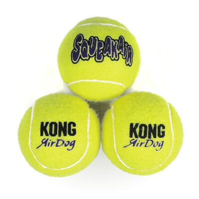 Kong Air Squeaker Tennis Balls Regular 3 Pack