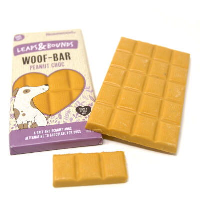 Leaps & Bounds Woof Bar Peanut Choc 100g
