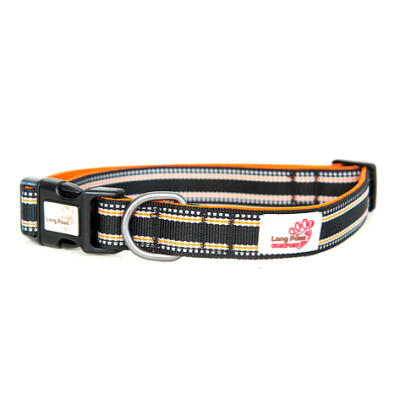 Long Paws Padded Comfort Collar Black - Medium