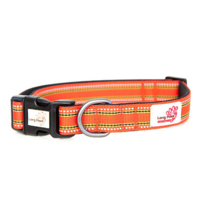 Long Paws Comfort gevoerde halsband - Oranje - Medium