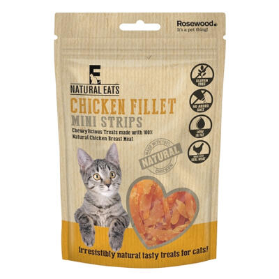 Natural Eats Cat Treats - Chicken Fillet Mini Strips 50g