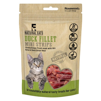 Natural Eats Cat Treats - Duck Fillet Mini Strips 50g
