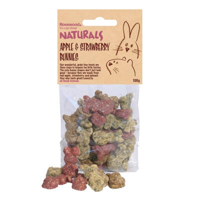 Naturals Apple & Strawberry Bunnies - 100g