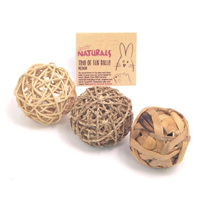 Naturals Trio of Fun Balls for Small Animals