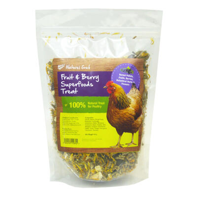 Natures Grub Fruit & Berry Superfoods Chicken Treat 600g