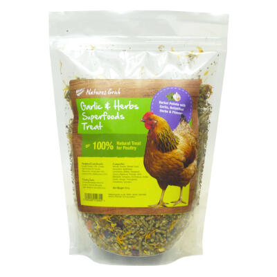 Natures Grub Garlic & Herb Superfoods kippensnack - 600g