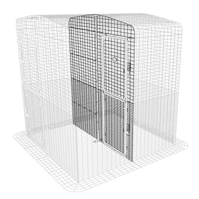 Outdoor Cat Run Partition High - 2 Panels
