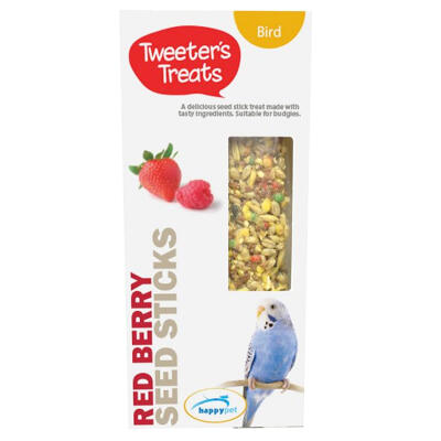 Bâtonnets de friandises pour perruches Tweeters Treats - Fruits rouges