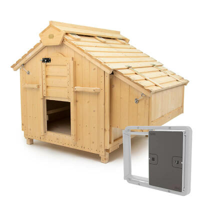 Lenham Chicken Coop with Automatic Chicken Coop Door - Grey