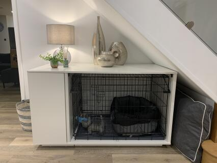 Really impressed with the dog nook. Ready for puppy arrival.