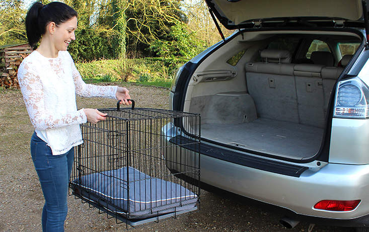 The Omlet Fido Classic is easy to put up and carry making it ideal to use in the car.