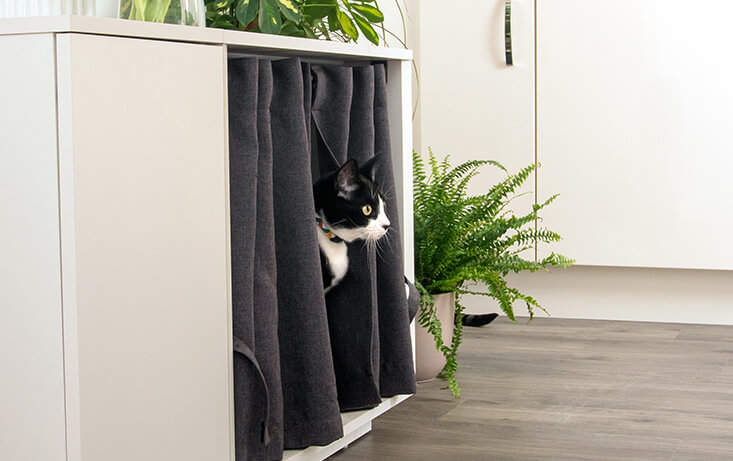 Being in a comfortable and enclosed space such as the Maya Nook cat house gives your cat a sense of security and allows them to fully relax and feel safe