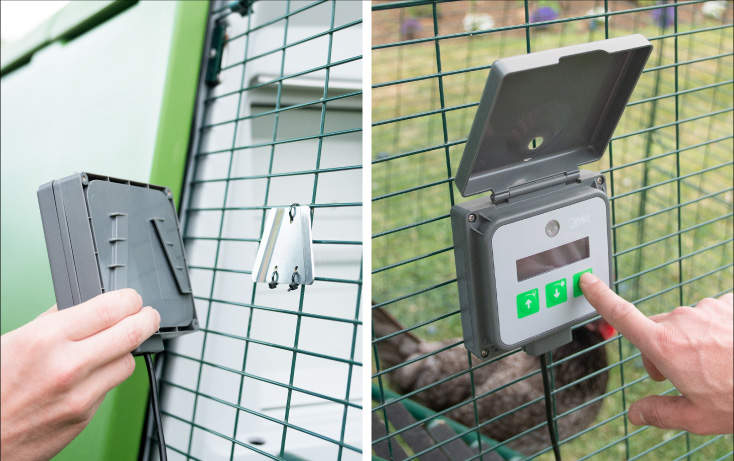 Place your control panel anywhere on your coop or run