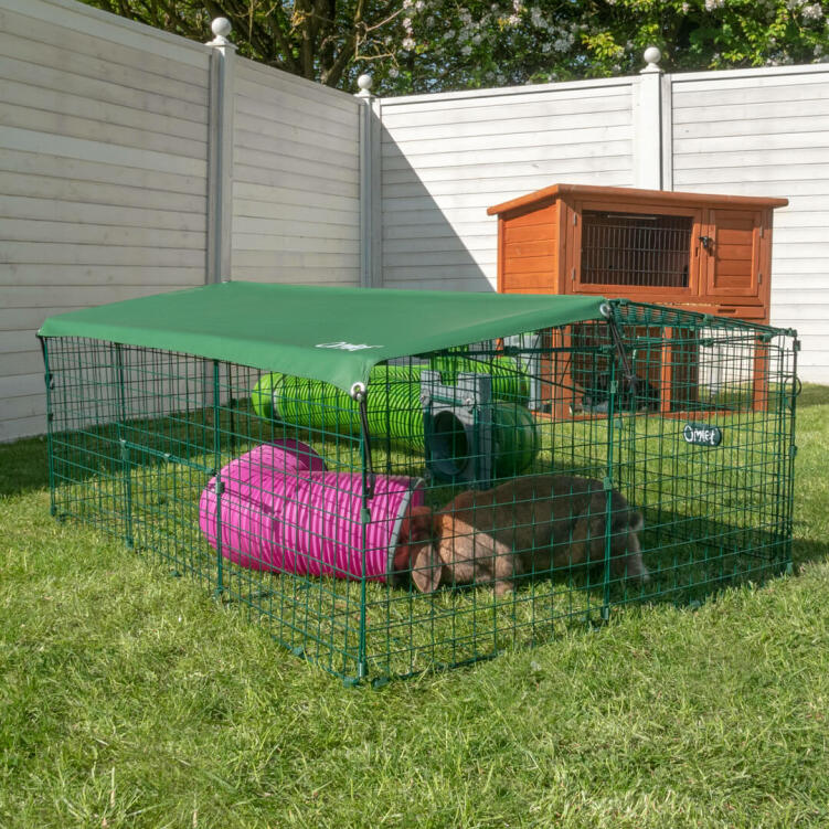 Your bunnies will love hopping round their single height Zippi Rabbit Run with Roof and Underfloor Mesh.