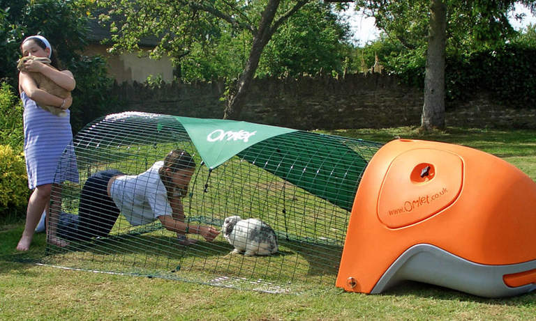 Kids will love using the Rabbit Eglu and playing with their new pets