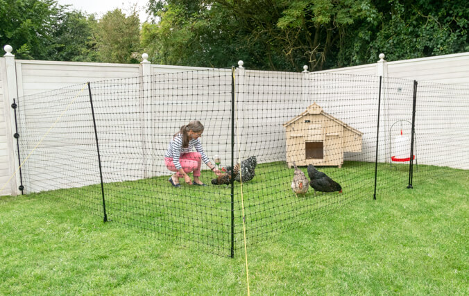 Place your Lenham Chicken Coop inside an area of chicken fencing to give your hens a designated space to roam without escaping!