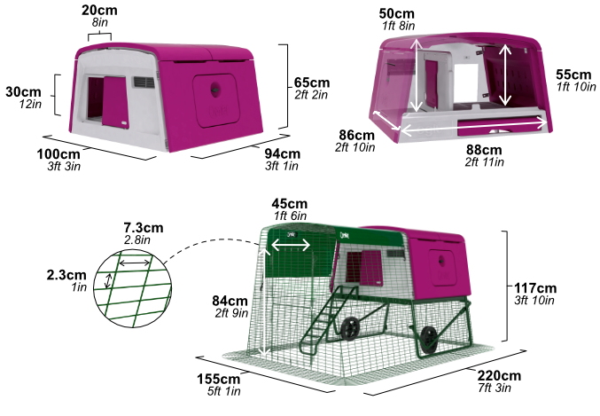 The Eglu Cube is Easy to Assemble. See the dimensions.