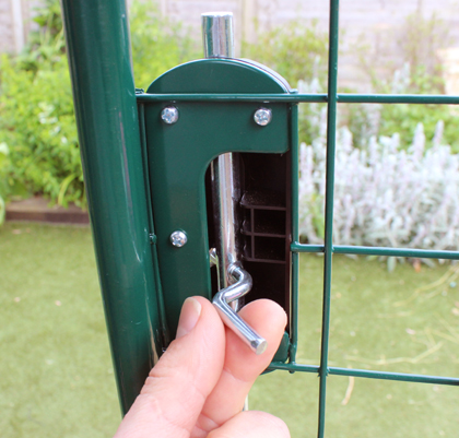 You can lock and unlock the door from inside the Outdoor Bunny Run.