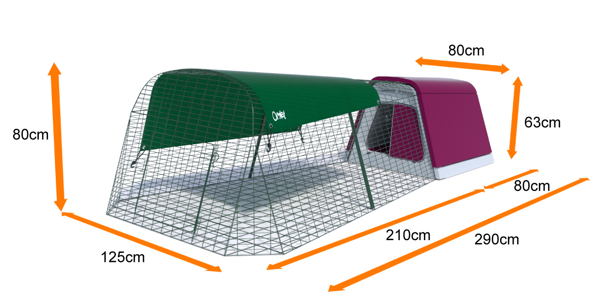 The dimensions of the Eglu Go Rabbit Hutch and Enclosure