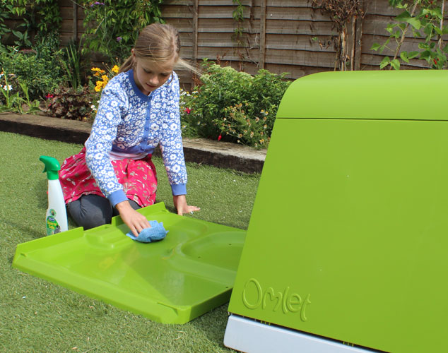 The Eglu Go Hutch is easy to clean thanks to its accessible design.