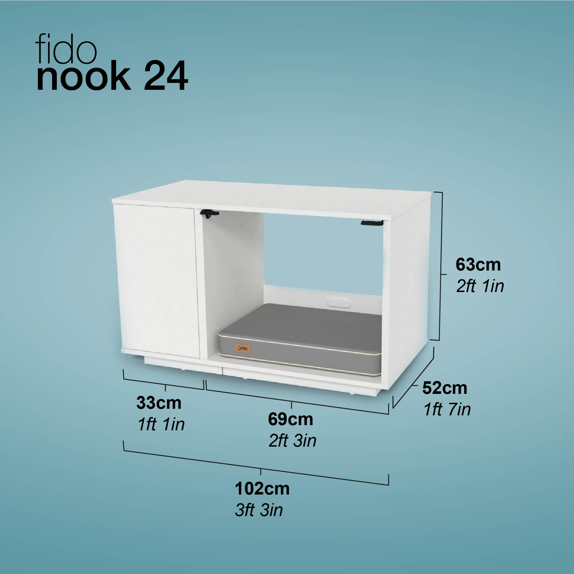 Fido Nook afmetingen en verpakking specificaties