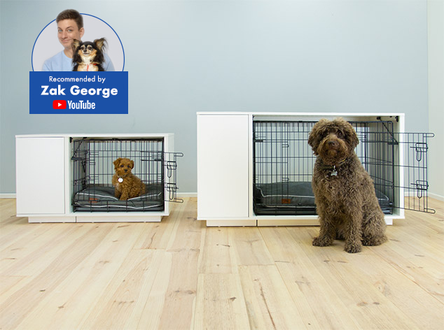 The Fido Nook will elegantly compliment your home while providing your dog with their own space