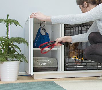 The Fido Nook Closet keeps your dogs things tidy