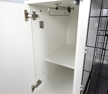 The Omlet Fido Studio optional Hook, Rail and Shelf