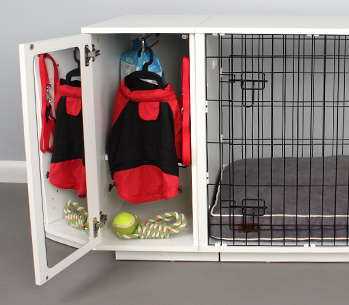 The Omlet Fido Studio closet keeps your dogs things organized