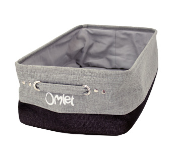The Maya Nook storage basket keeps your cats toys nice and organized