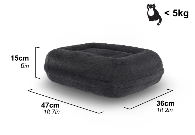 The Maya Donut Cat Bed is suitable for cats and kittens up to 5kg.
