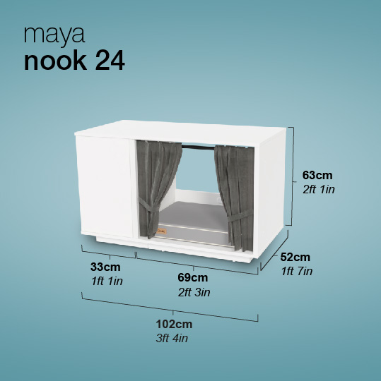 Maya Nook Cat House dimensions