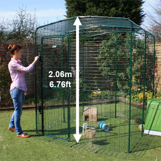 The High-Rise Outdoor Guinea Pig Enclosure allows you to walk in to spend time with your pets.