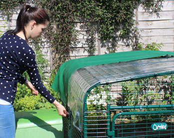 Combine several Covers to keep your guinea pigs sheltered from wind and rain.