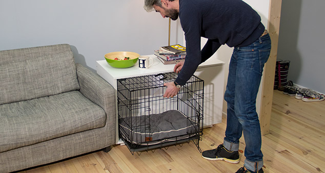 Using a dog crate is an excellent way to train a puppy