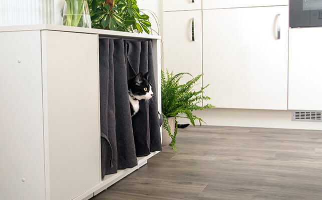 Elegantly designed, the Fido Nook will compliment your home while providing your dog with their own space