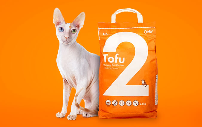 No. 2 Tofu is clumping and compostable for low maintenance and easy disposal.