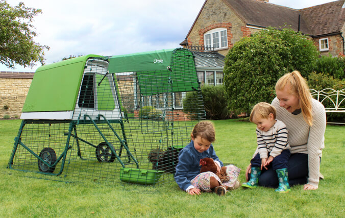 The Eglu Go UP chicken coop is perfect for families looking to keep a small flock of chickens in their backyard.