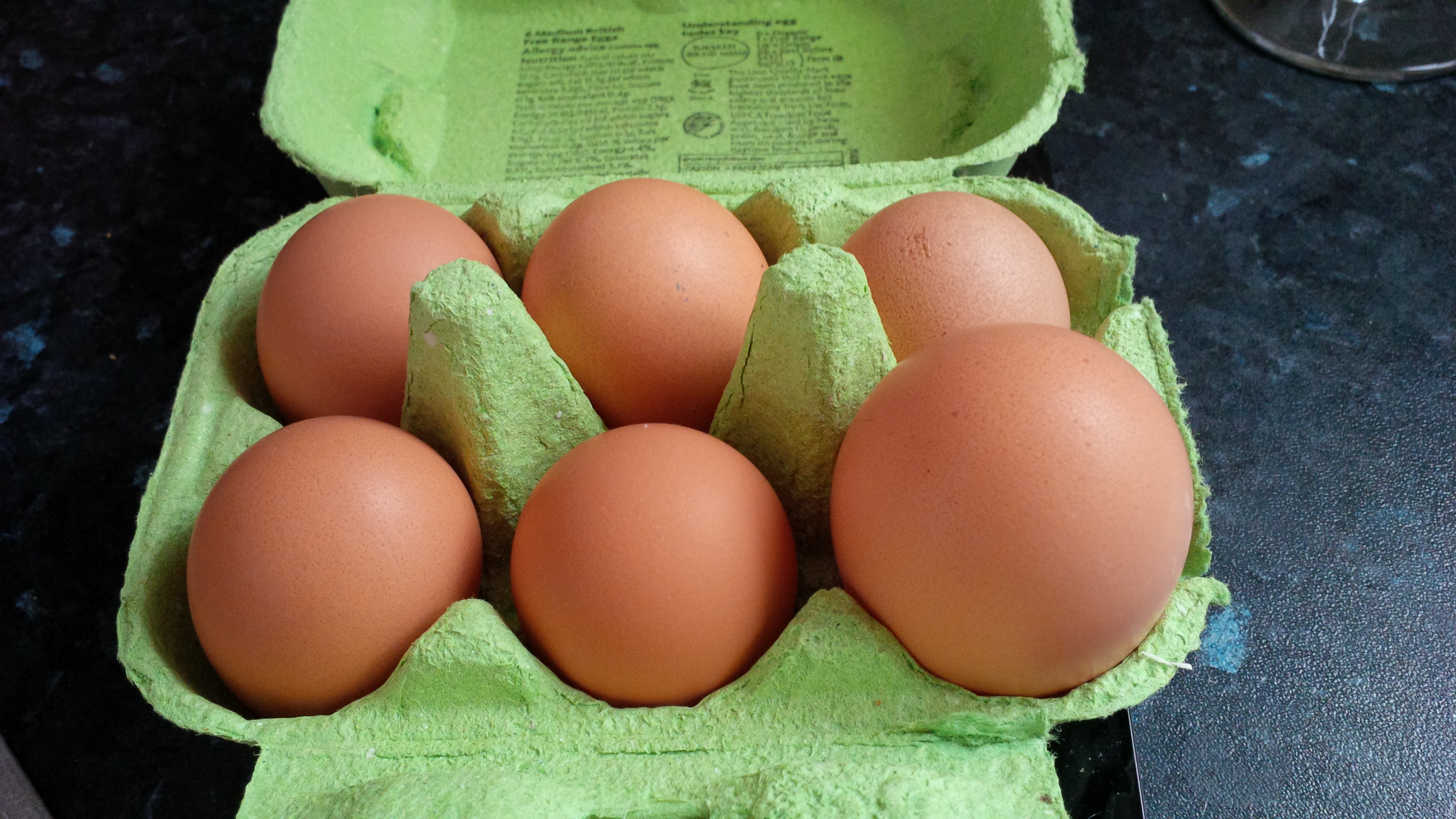 James McPherson's hens lay all sorts of sized eggs