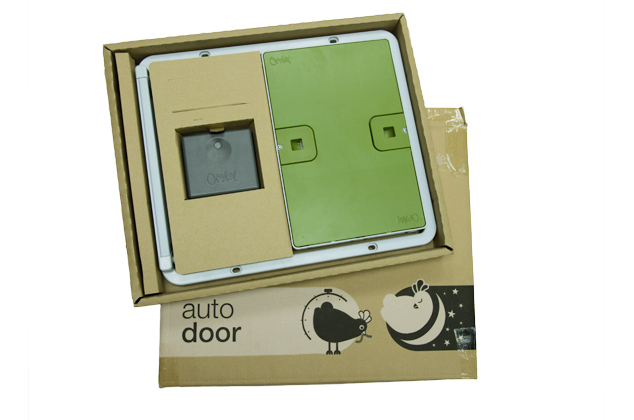 You get everything you need to install the Omlet Autodoor in one box