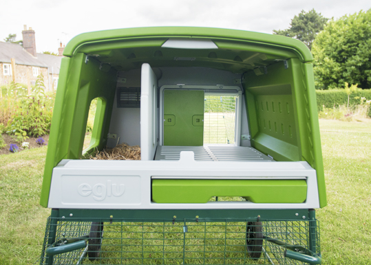The Omlet Automatic Chicken Coop Door fits on every Eglu Cube